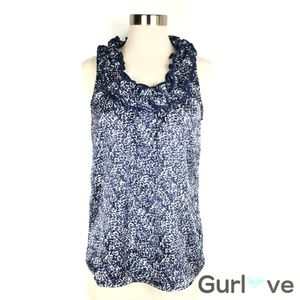 The Limited Floral Blue Metal Blouse Size S